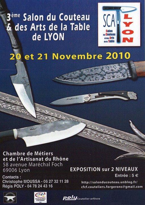 2010 ao t salon du couteau des arts de la table de lyon for Salon des arts de la table