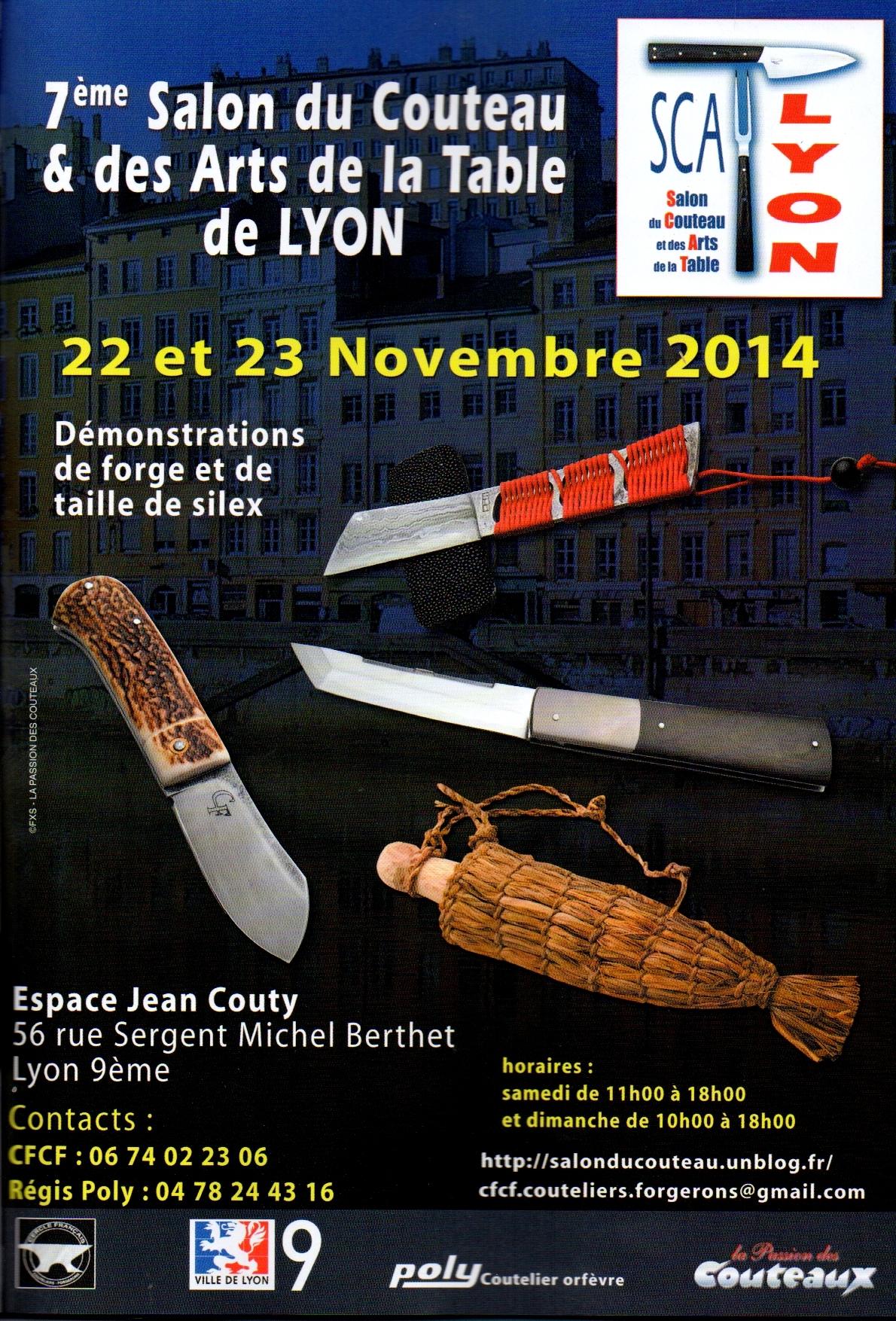 Salon du couteau des arts de la table de lyon for Salon des arts de la table